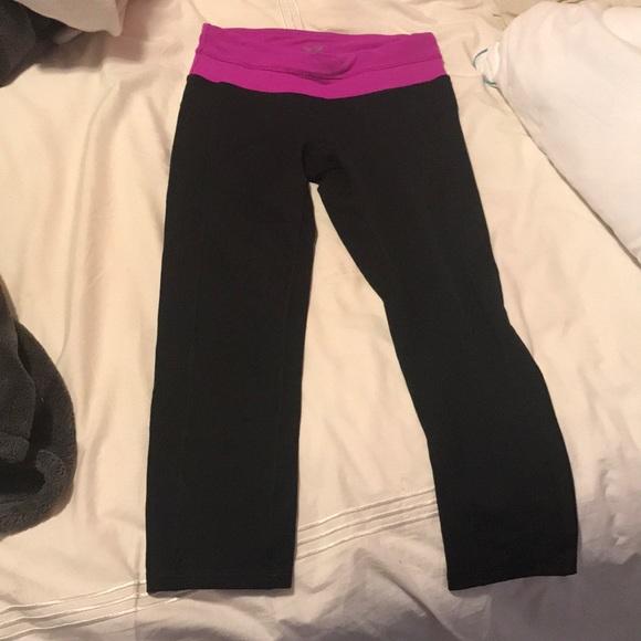 33c0bd3e8e2085 Champion Pants | Black Purple Capri Athletic Leggings | Poshmark